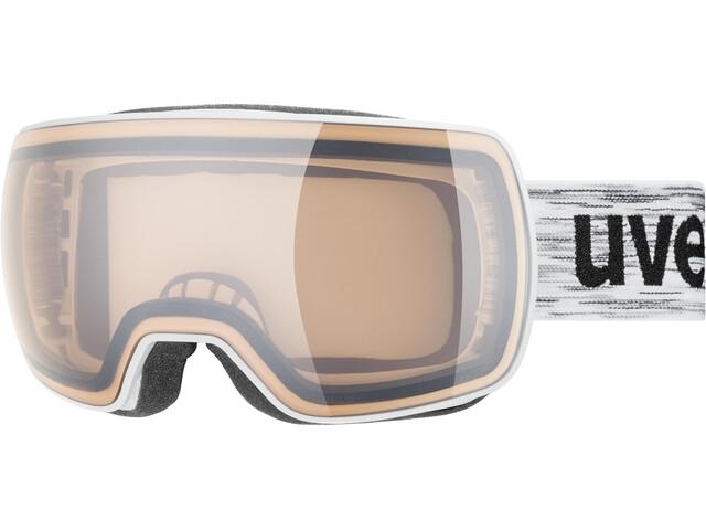 UVEX Compact V Gafas, white/variomatic silver